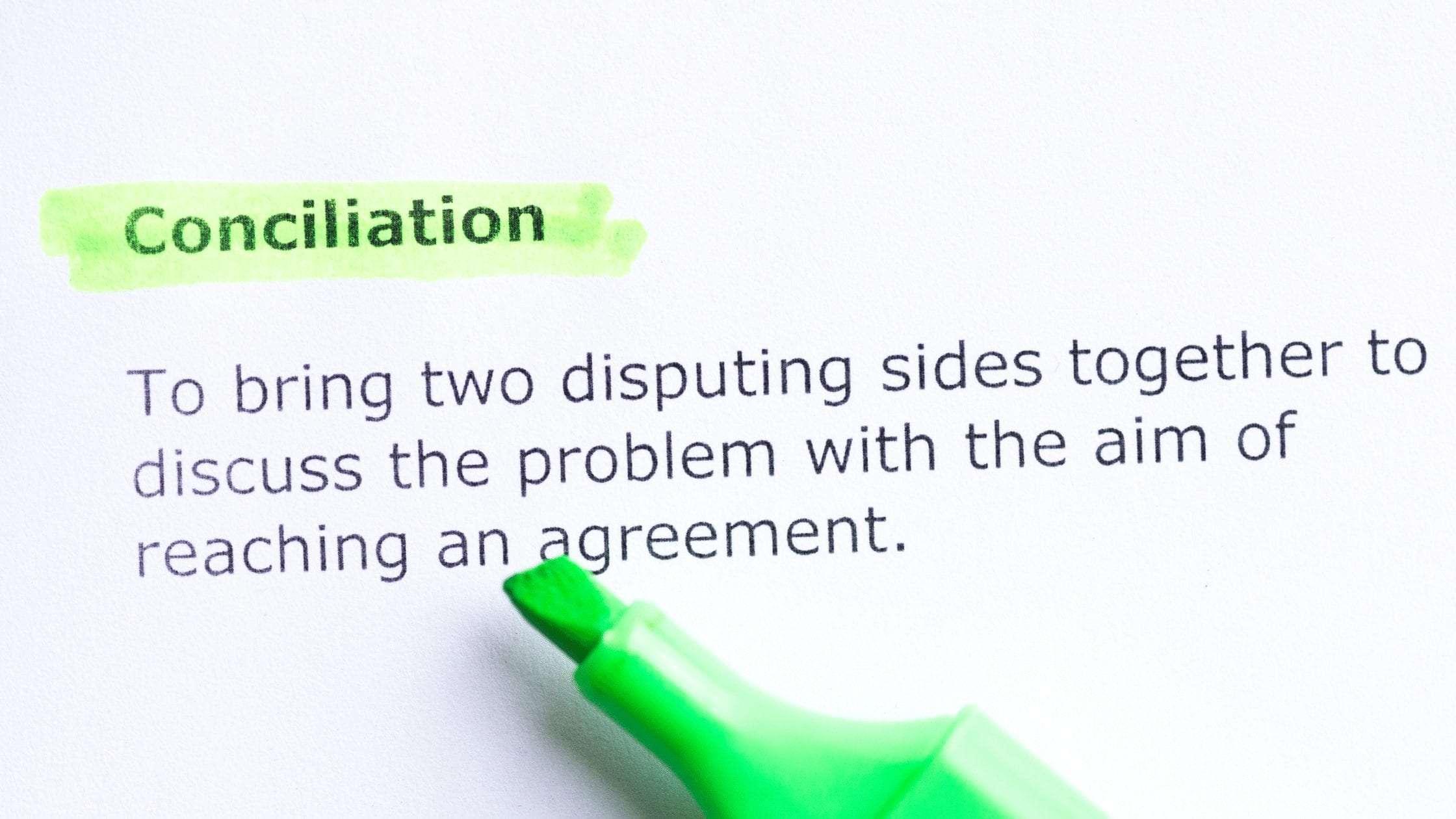 Process of Conciliation